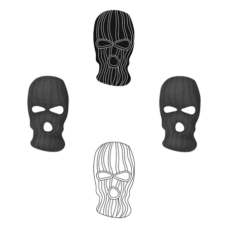 Mask to close the face of the offender from witnesses.Prison single icon in cartoon style vector symbol stock illustration.
