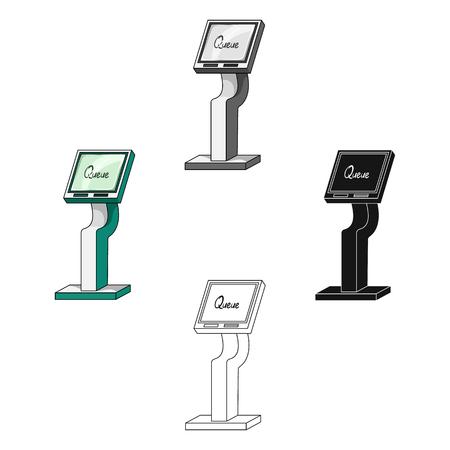 Queue, access terminal. Terminals single icon in cartoon style isometric vector symbol stock illustration web. 矢量图片