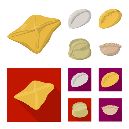 Vector design of products  and cooking logo. Set of products  and appetizer vector icon for stock.