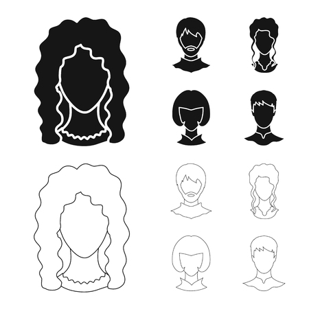 Vector illustration of professional and photo symbol. Collection of professional and profile stock vector illustration.