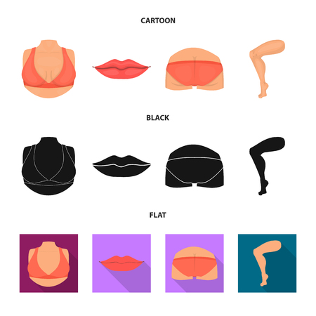Vector design of body and part icon. Collection of body and anatomy stock vector illustration. Illustration