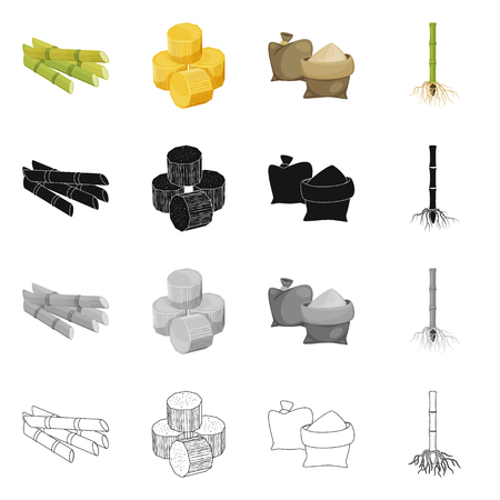 Vector design of farm and agriculture icon. Set of farm and technology vector icon for stock. Векторная Иллюстрация
