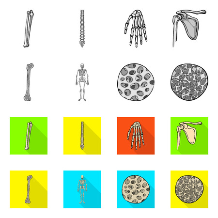 Vector design of medicine and clinic symbol. Set of medicine and medical vector icon for stock. Illustration