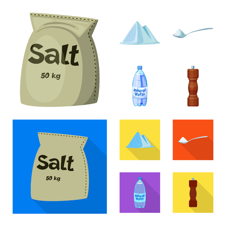 Isolated object of cooking and sea sign. Set of cooking and baking vector icon for stock.