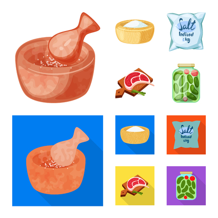 Vector illustration of cooking and sea symbol. Set of cooking and baking vector icon for stock.