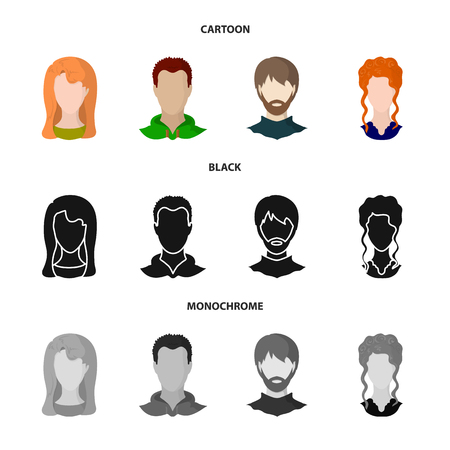 Isolated object of professional and photo logo. Collection of professional and profile stock vector illustration. Illustration