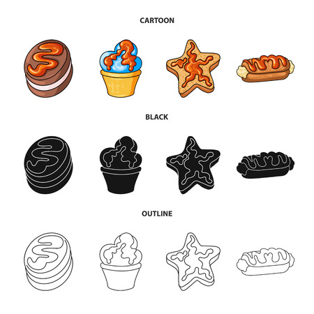 Vector design of confectionery and culinary logo. Collection of confectionery and product stock symbol for web.