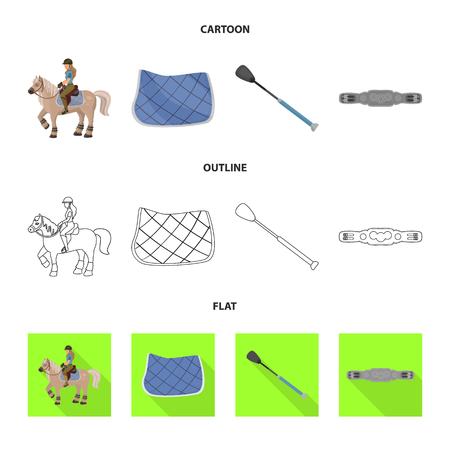 Isolated object of equipment and riding icon. Set of equipment and competition vector icon for stock.