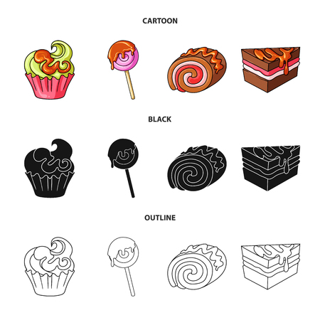 Isolated object of confectionery and culinary sign. Collection of confectionery and product vector icon for stock.