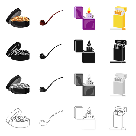 Vector design of refuse and stop logo. Collection of refuse and habit vector icon for stock.