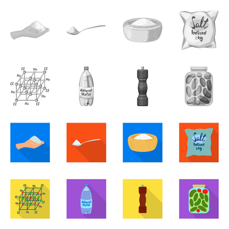 Isolated object of cooking and sea icon. Set of cooking and baking   vector icon for stock. Ilustração
