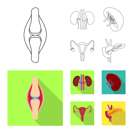 Vector design of biology and scientific icon. Collection of biology and laboratory stock symbol for web. Illustration