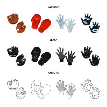 Vector illustration of silhouette and safety icon. Set of silhouette and comfort vector icon for stock.