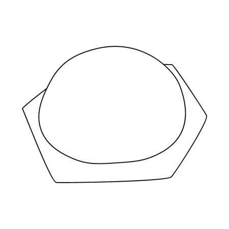 Vector design of pierogi and ravioli icon. Set of pierogi and tortellini stock vector illustration.