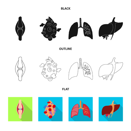 Vector design of biology and scientific symbol. Set of biology and laboratory vector icon for stock.