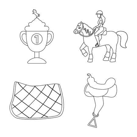 Vector design of horseback and equestrian symbol. Collection of horseback and horse stock symbol for web.
