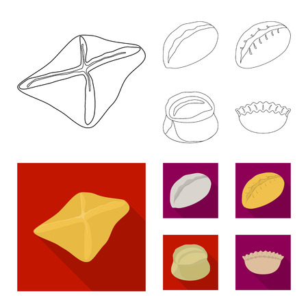 Vector design of products  and cooking logo. Collection of products  and appetizer vector icon for stock. Ilustrace
