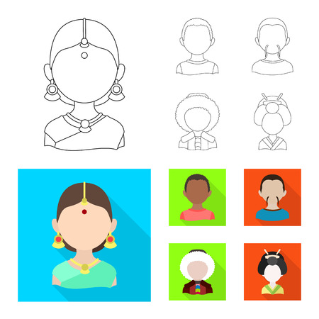 Vector design of imitator and resident sign. Collection of imitator and culture vector icon for stock.