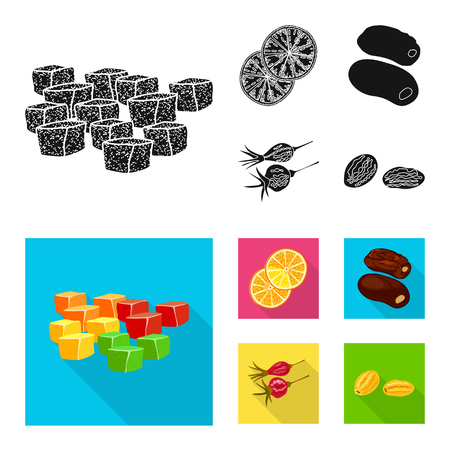 Vector design of food and raw icon. Collection of food and nature stock symbol for web.