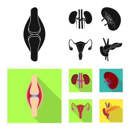 Vector design of biology and scientific sign. Collection of biology and laboratory stock vector illustration.