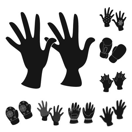 Ilustracja wektorowa logo ciepło i komfort. Zestaw ciepłych i stylowych symboli giełdowych dla sieci web.