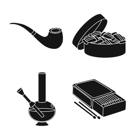 Vector illustration of anti and habit icon. Collection of anti and tobacco stock vector illustration.