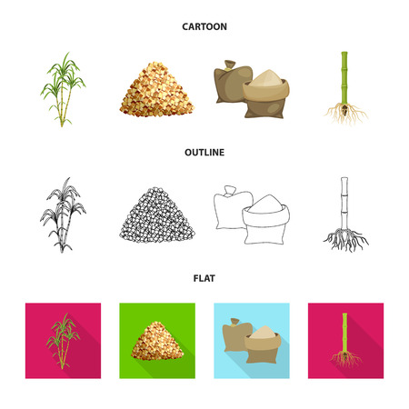 Isolated object of farm and agriculture symbol. Collection of farm and technology vector icon for stock.