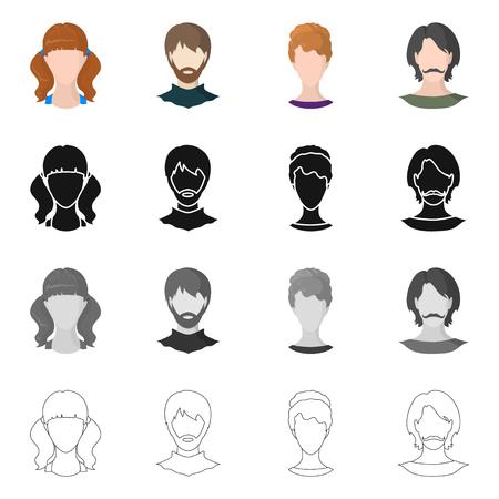 Diseño vectorial de logotipo profesional y fotográfico. Conjunto de símbolo de stock profesional y de perfil para web.