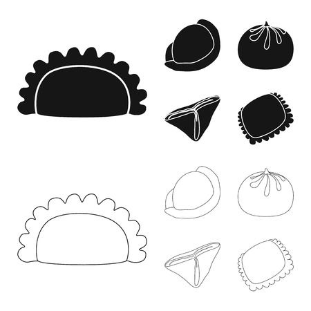 Vector illustration of products  and cooking symbol. Set of products  and appetizer stock vector illustration. Illustration