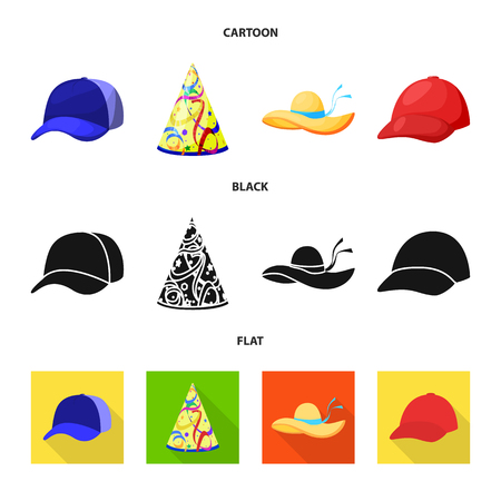 Isolated object of clothing and cap symbol. Collection of clothing and beret stock symbol for web.