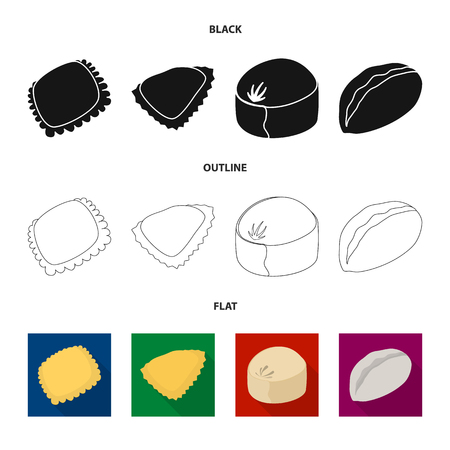 Vector illustration of products  and cooking logo. Set of products  and appetizer stock vector illustration.