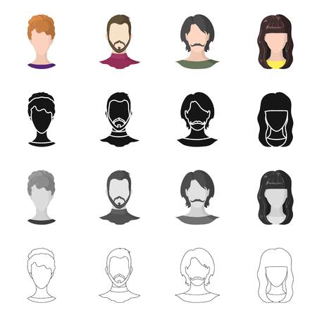 Illustrazione vettoriale del logo professionale e fotografico. Raccolta di icone vettoriali professionali e di profilo per stock.