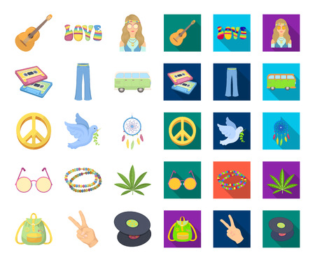 Happy and attribute cartoon,flat icons in set collection for design. Happy and accessories vector symbol stock web illustration.