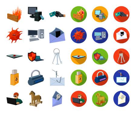 Hacker et piratage cartoon,télévision d'icônes dans la collection de jeu pour la conception. Hacker et équipement vecteur symbole stock illustration web.