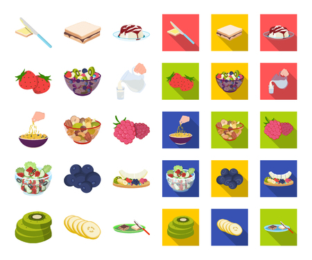 Dessert fragrant cartoon,flat icons in set collection for design. Food and sweetness vector symbol stock web illustration.