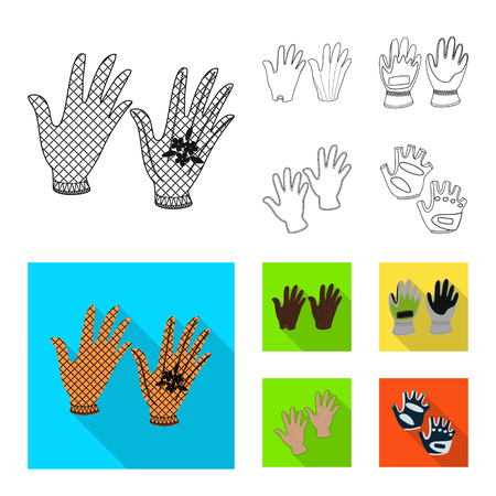 Vector design of silhouette and safety sign. Set of silhouette and comfort stock symbol for web. Illustration