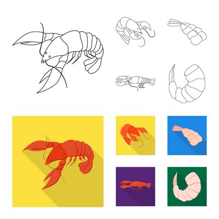 Vector illustration of appetizer and ocean symbol. Collection of appetizer and delicacy stock symbol for web. Illustration