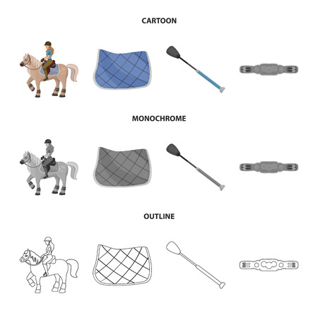 Isolated object of equipment and riding icon. Collection of equipment and competition vector icon for stock.