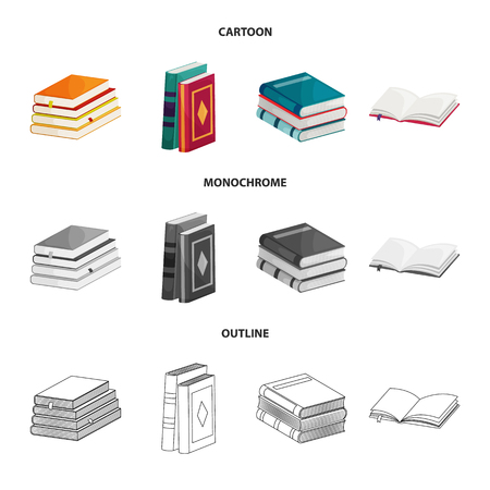 Vector design of training and cover. Collection of training and bookstore  stock symbol for web.