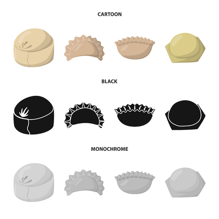 Vector illustration of products  and cooking. Collection of products  and appetizer stock symbol for web.