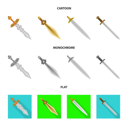 Vector illustration of game  and armor  symbol. Collection of game  and blade  vector icon for stock.