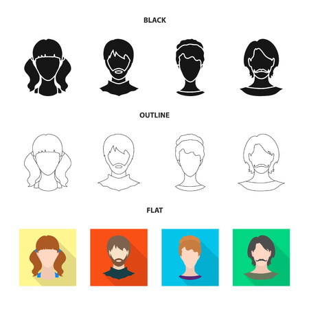 Vector design of professional and photo symbol. Collection of professional and profile stock vector illustration.