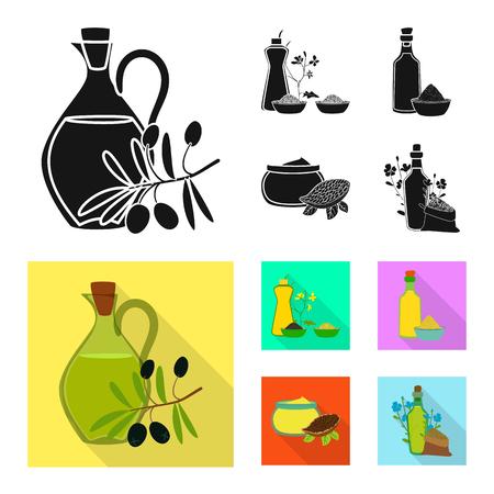 Ilustración de vector de símbolo saludable y vegetal. Colección de símbolo de stock saludable y agrícola para web.