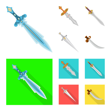 Vector illustration of game  and armor  icon. Collection of game  and blade  stock vector illustration.