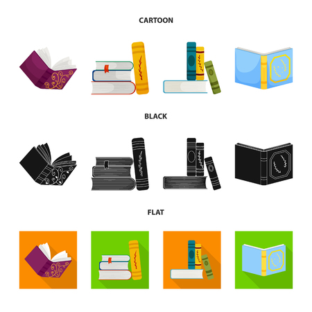Vector illustration of training and cover icon. Collection of training and bookstore  stock vector illustration.