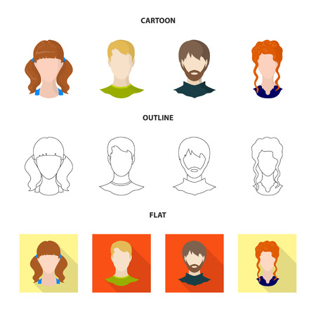 Vector illustration of professional and photo logo. Set of professional and profile stock vector illustration. Illustration