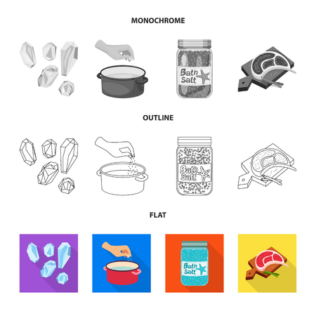 Vector illustration of cooking and sea icon. Set of cooking and baking vector icon for stock.