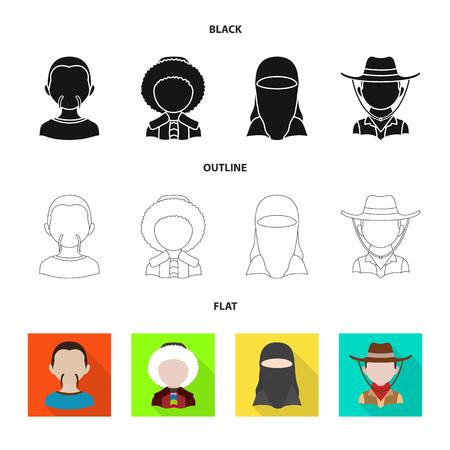 Vector illustration of imitator and resident sign. Collection of imitator and culture stock vector illustration.