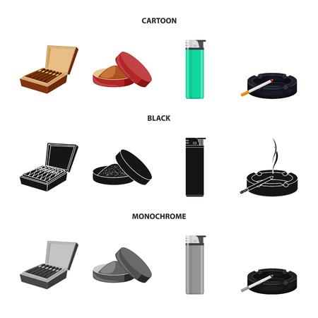 Isoliertes Objekt aus Abfall und Stoppsymbol. Satz von Abfall- und Gewohnheitsaktiensymbolen für das Web.
