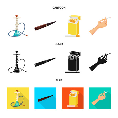 Isolated object of refuse and stop symbol. Collection of refuse and habit vector icon for stock.